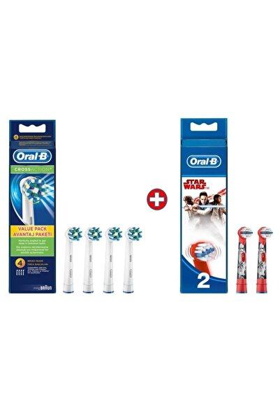 Oral-B Diş Fırçası Yedek Başlığı Cross Action 4'lü+starwars 2 Li