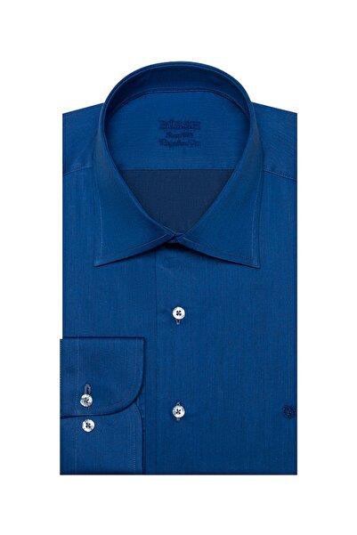 Bisse Erkek Lacivert Regular Fit Düz Klasik Gömlek