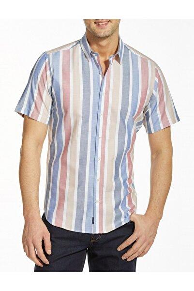 Bisse Erkek Lacivert Kısa Kollu Küçük Yaka Spor Gömlek