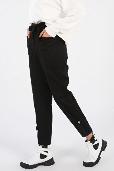 ALLDAY Kadın Siyah Boru Paça Pantolon