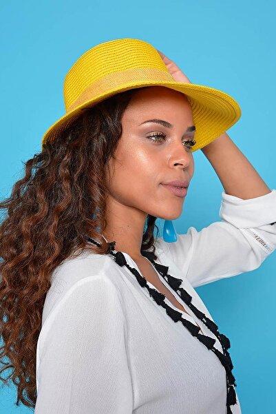 Mossta Kadın Sarı Hasır Şapka