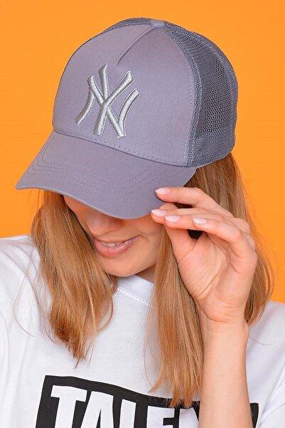 Mossta Unisex Gri New York Şapka