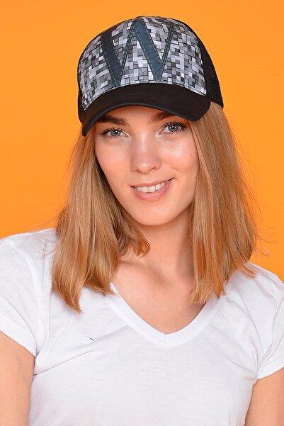 Mossta Unisex Siyah W Baskılı Şapka