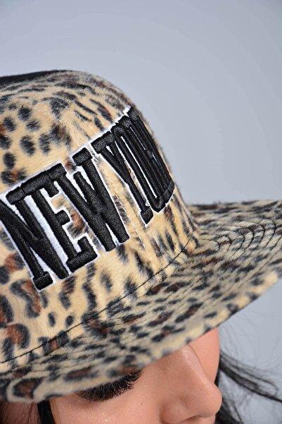 Mossta Kadın Siyah New York Leoapar Tüylü Snapback Kep Şapka