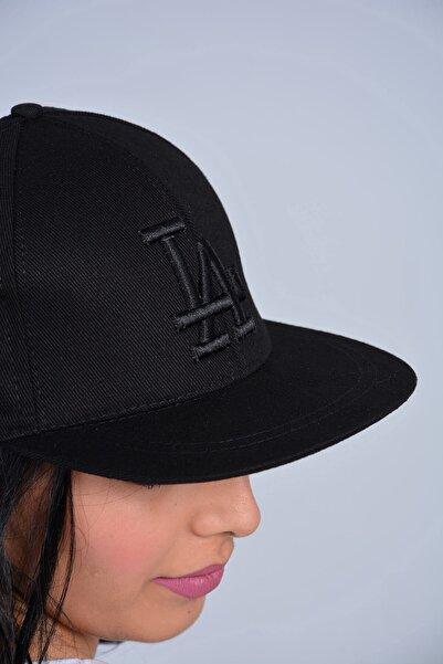 Mossta Unisex Siyah La Nakışlı Snapback Kep Şapka