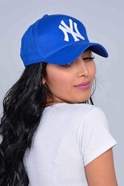 Mossta Unisex Saks Mavisi New York Şapka