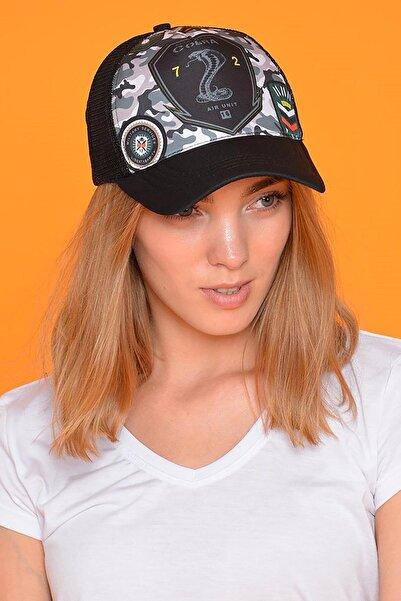 Mossta Unisex Siyah Cobra Şapka