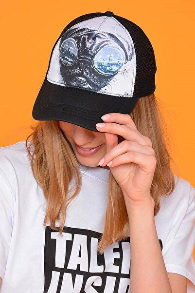 Mossta Unisex Siyah Dog Figürlü Şapka