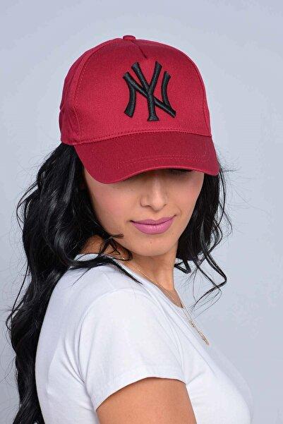 Mossta Unisex Bordo New York Şapka