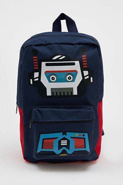 DeFacto Erkek Çocuk Lacivert Robot Baskılı Okul Çantası