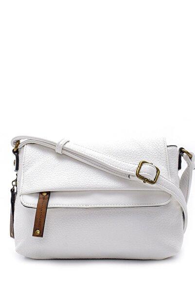 Derimod Kadın Beyaz Çapraz Çanta