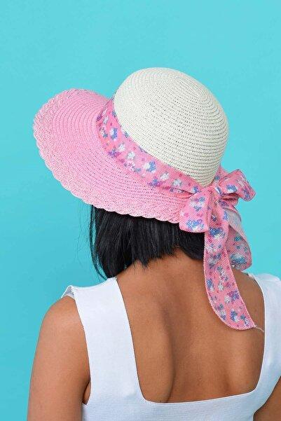 Mossta Kadın Pembe Hasır Şapka