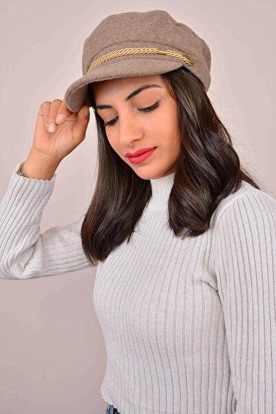 Mossta Kadın Düz Bej Şapka