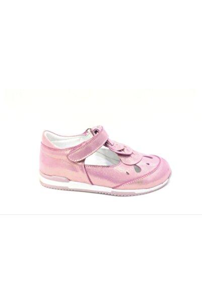 Perlina Kız Çocuk Pembe Ortopedik Hakiki Deri Günlük Ayakkabı 1209--5