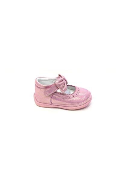 Perlina Kız Çocuk Pembe Ortopedik Hakiki Deri İlk Adım Ayakkabısı 1063-1