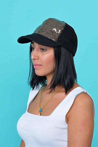 Mossta Kadın Kahverengi Payetli Şapka