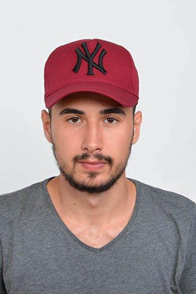 Mossta Erkek Bordo New York Ny Nakışlı Şapka