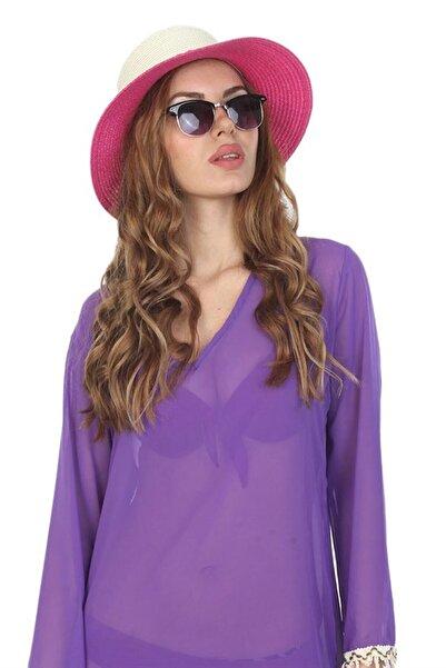 Mossta Kadın Fuşya Hasır Şapka