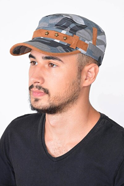 Mossta Erkek Gri Kamuflaj Şapka