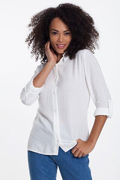 Mossta Kadın Beyaz Gömlek