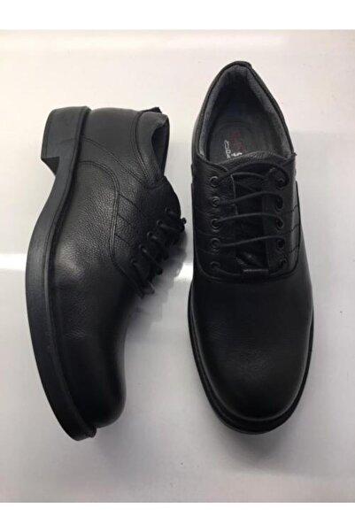 Şahin Erkek Siyah Günlük Hakiki Deri Ayakkabı 508