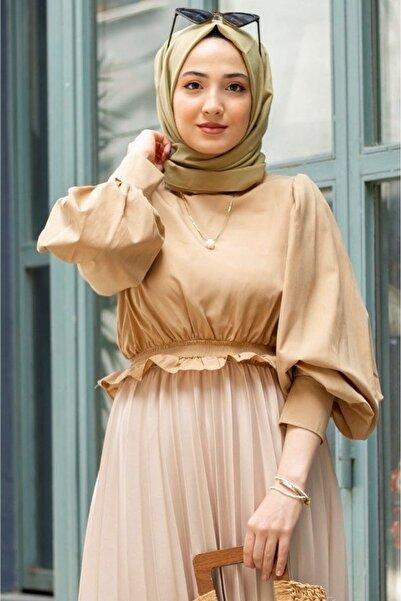 Gizce Holly Camel Gömlek