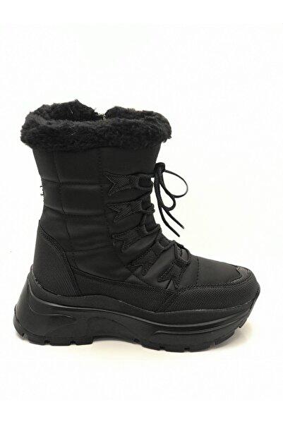 Tarık Kadın Siyah Dolgu Topuklu Bot 7455