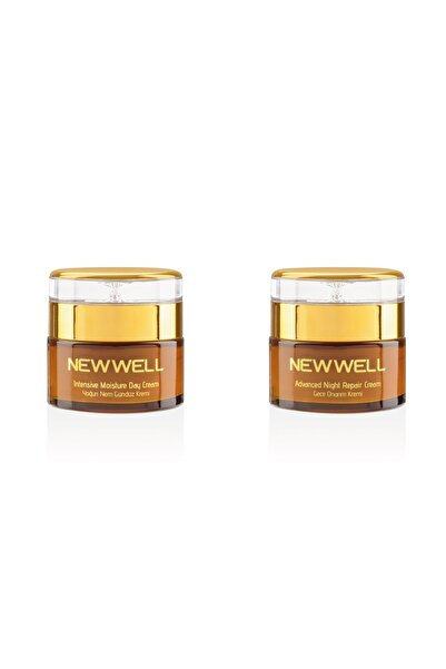 New Well Derma Intensive Mositure Day Cream + Derma Advenced Night Repair Cream( Gece Gündüz Kremi)