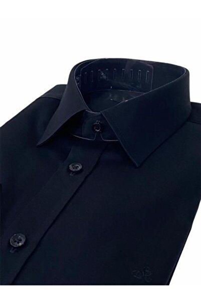 Sarar Erkek Siyah Elvio Slim Fit Gömlek