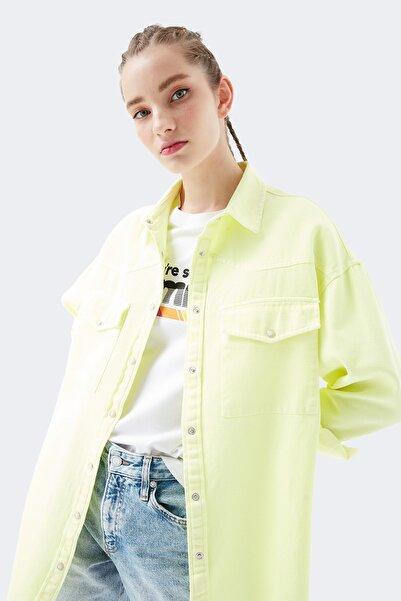 Mavi Kadın Sarı Gömlek 122692-33047