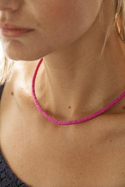 New Obsessions Kadın Fuşya Plastik Boncuk Kolye