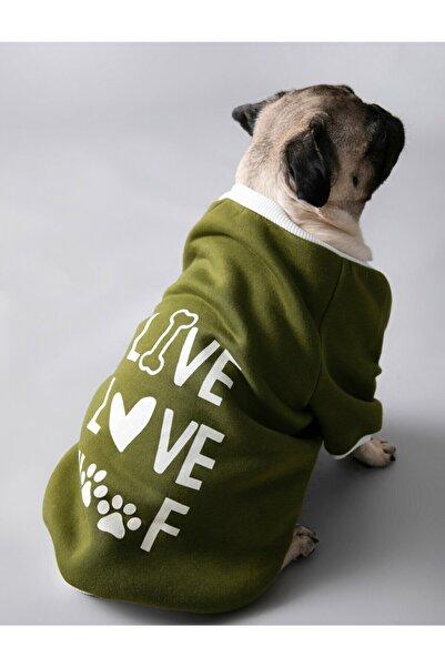 Koton Yeşil Sloganli Köpek Sweatshirt