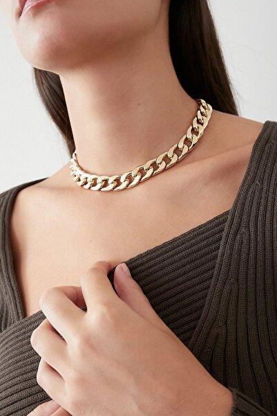 New Obsessions Kadın Altın Thin Cadena Kolye
