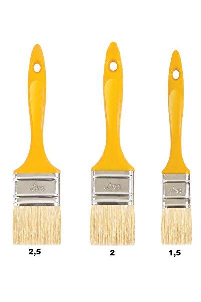 Luna Libra 3'lü Boya Fırça Seti Kestirme Fırça Set