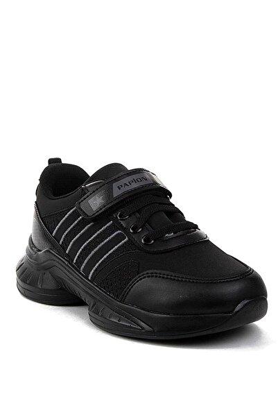 Papion Unisex Çocuk Siyah Hafif Taban Spor Ayakkabı 135