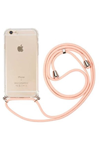 Apple Iphone 6/6s  İpli Boyun Askılı Köşe Korumalı Şeffaf Kapak Kılıf