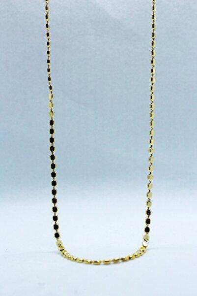 STRAWBERRY Kadın Altın Uzun Pul Arpa Kolye