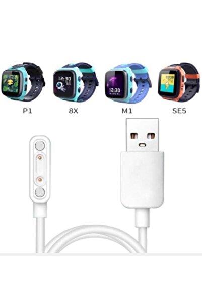 Techmaster 8x P1 M1 Se5 Akıllı Çocuk Saati Manyetik Şarj Cihazı Kablosu