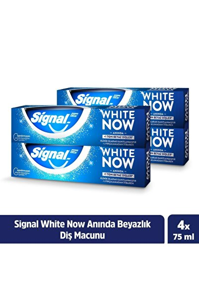 Signal Diş Macunu White Now Anında Beyazlık 75 Ml X4