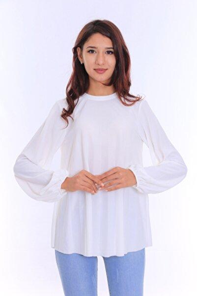 Peros Kadın Beyaz Pileli Gömlek