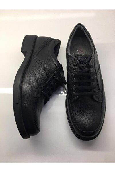 Şahin Erkek Siyah Günlük Hakiki Deri Ayakkabı 504