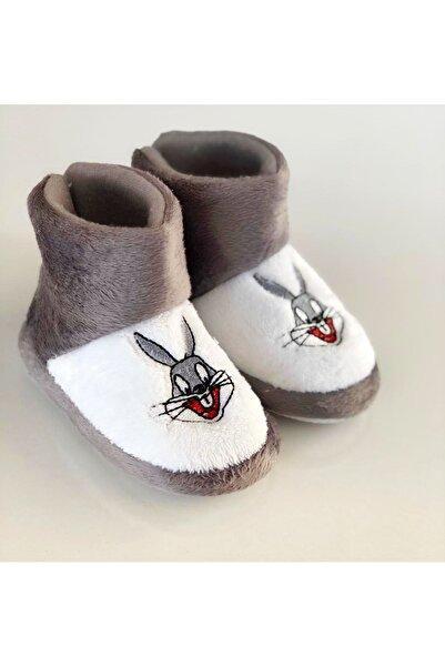 Miracle Çocuk Tavşan Figürlü Panduf, Kaydırmaz Taban Anaokulu Kreş Ayakkabısı , Ev Ayakkabısı