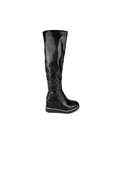 Guja Kadın Siyah Dolgu Topuk Çizme 165