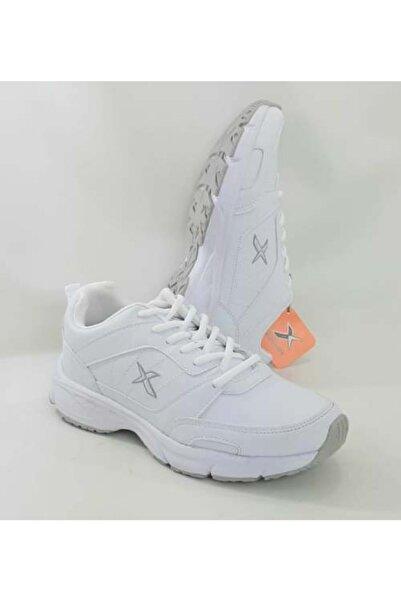 Kinetix Kadın Erkek Beyaz  Avery Pu, Fisesiz Dört Mevsim Kaymaz Taban  Spor Ayakkabı