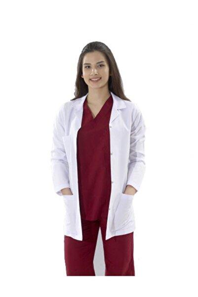 MEDİKAL Kadın Klasik Yaka Beyaz Doktor Hemşire Eczacı Laboratuvar Önlüğü