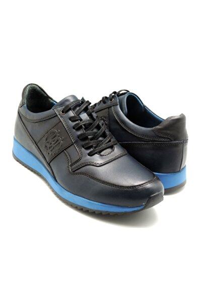 Delta Erkek Lacivert Bağcıklı Deri Casual Ayakkabı