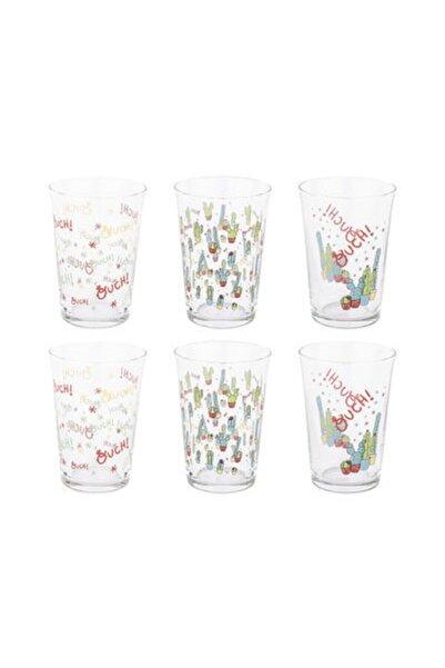 Tantitoni Lovely Cactus Su Bardağı Takımı 6 Parça 008-01 Hare T20226lc