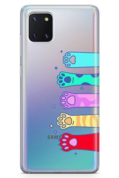 Lopard Samsung Galaxy Note 10 Lite Kılıf Renkli Patiler Arka Kapak Koruma Desenli Full Koruyucu