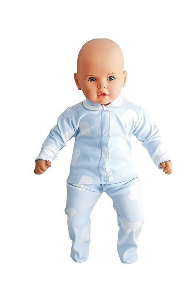 bebegen Mavi Beyaz Lekeli 2 Li Erkek Bebek Takım (ayaklı)