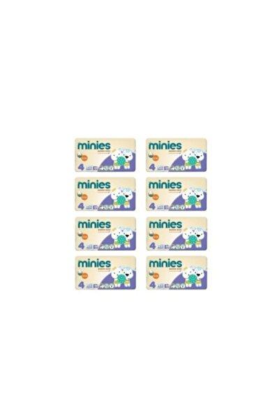 Minies 4 Numara 44x8=352 Adet Bebek Bezi 7-18 kg 8li Paket